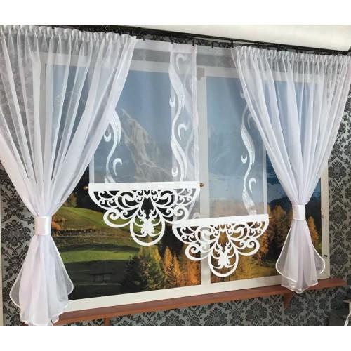 Firana Adela Ażur panele ekrany + kokony z woalu